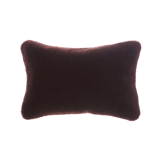 Shearling Expresso Lumbar Pillow
