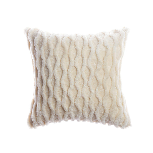 Shearling Curves Ivory Square Pillow
