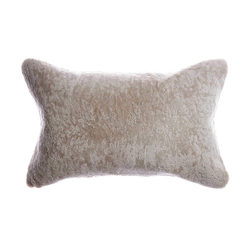 Shearling Light Grey Lumbar Pillow
