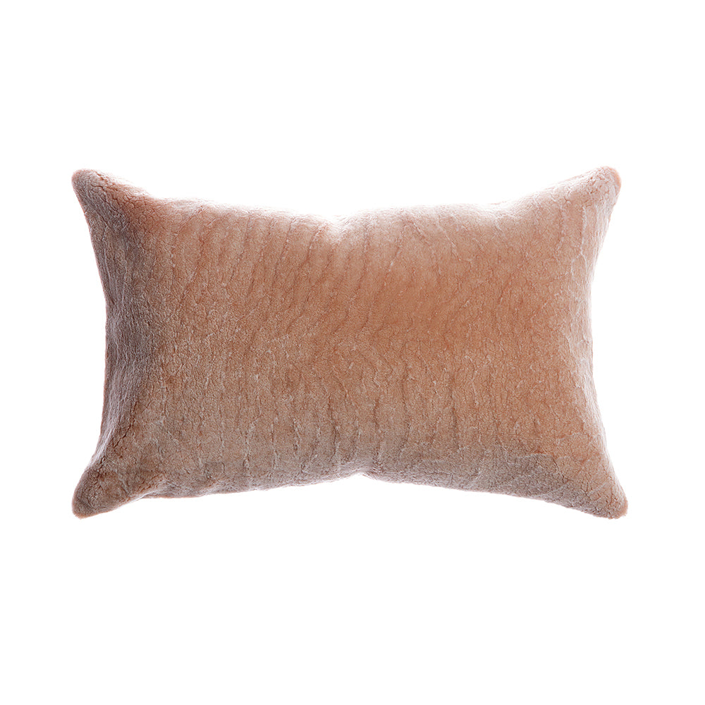 Shearling Salmon Lumbar Pillow