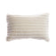 Shearling Stripes Ivory Lumbar Pillow