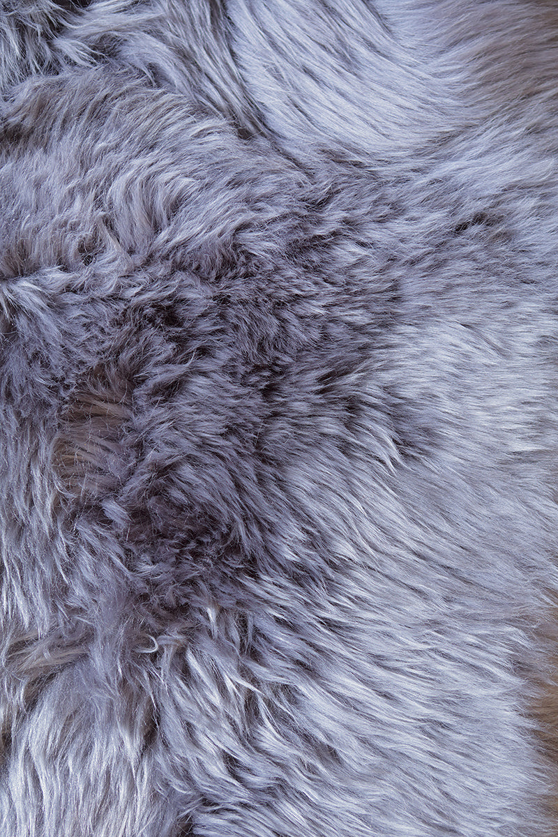Sheepskin Runner Fur Rug - Gray Steel  -  (2.4´ x 6.9´ )