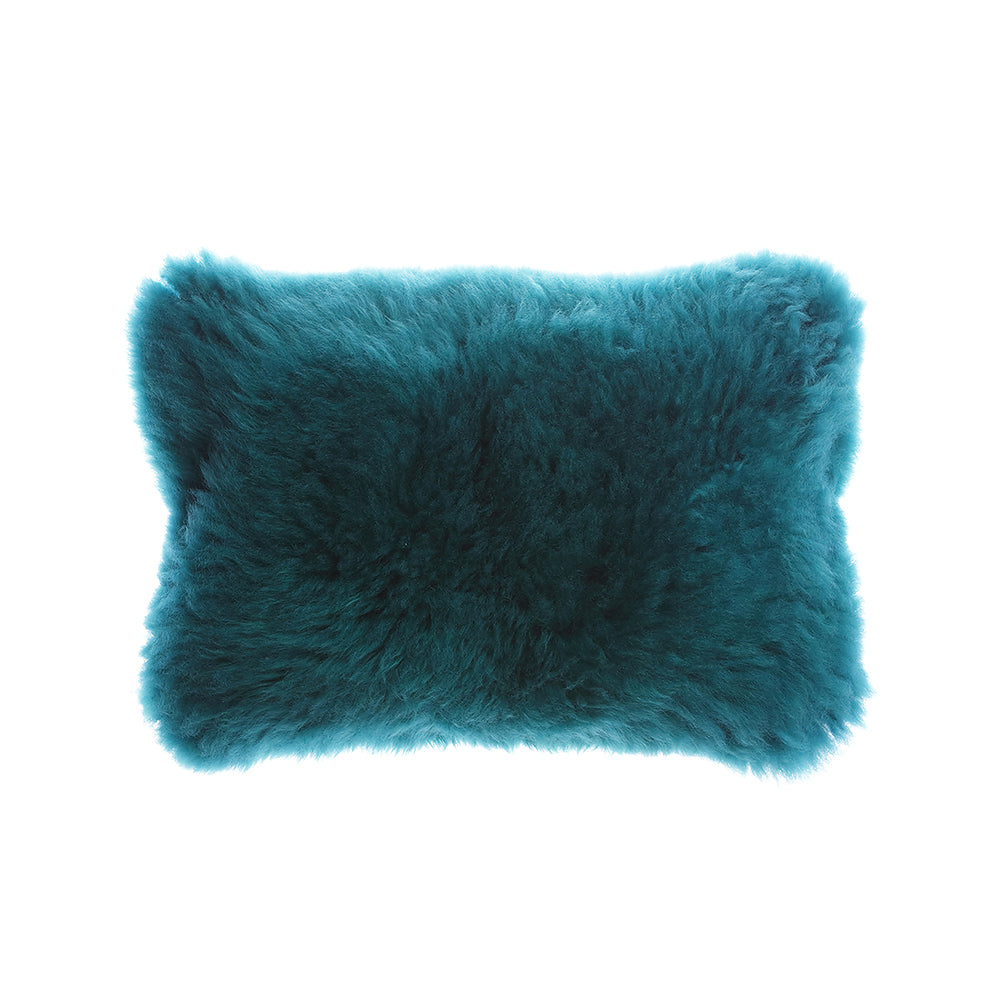 Jade Sheepskin Lumbar Pillow