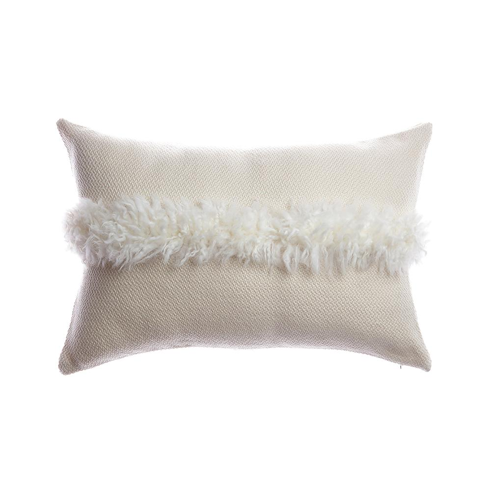 Sheepskin Striped Lumbar Pillow