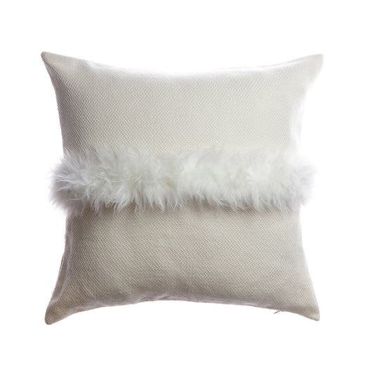 Sheepskin Striped Square Pillow