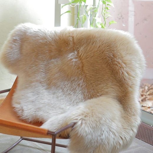 Single Sheepskin Rug  - Beige Camel (2.5´x 3.5´)