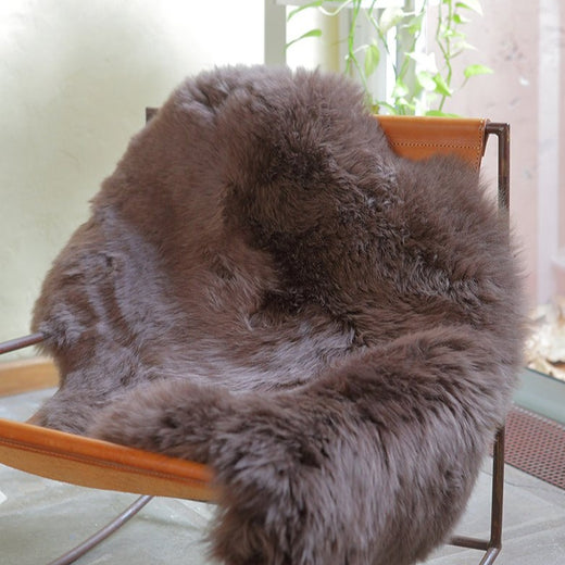 Single Sheepskin Rug  - Brown Chocolate          (2.5´x 3.5´)