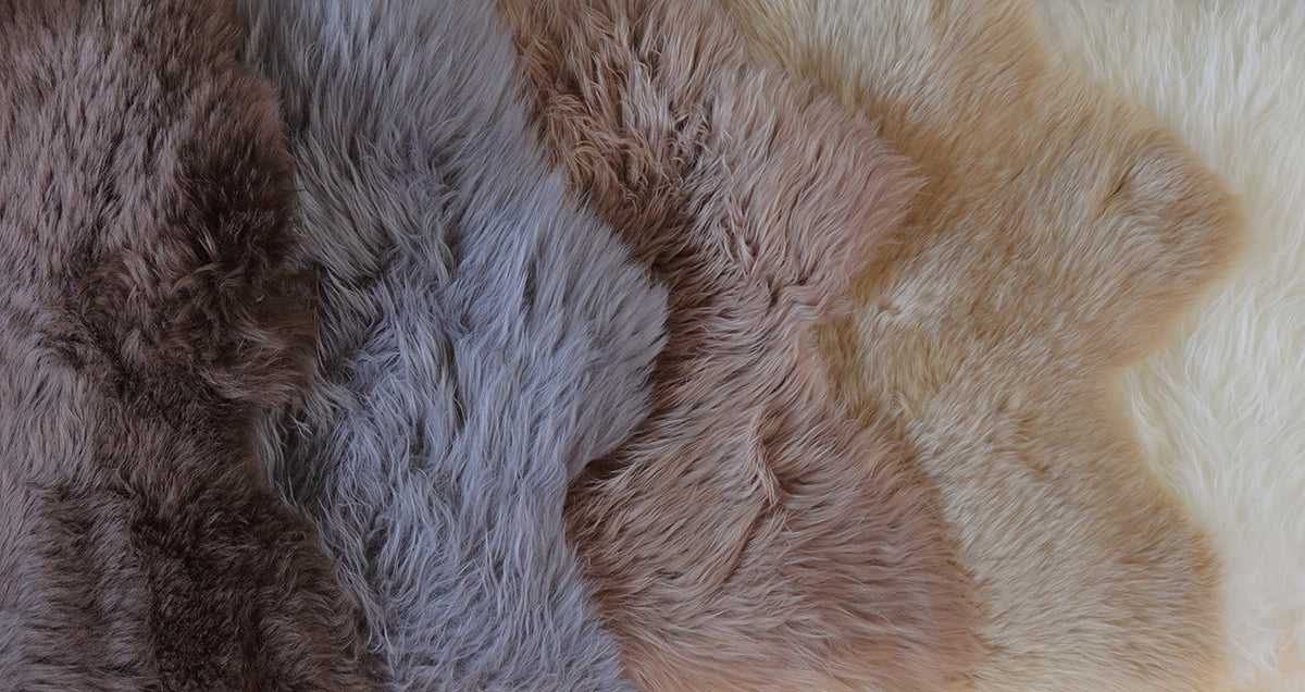 Single Sheepskin Rug  - Gray Steel           (2.5´x 3.5´)