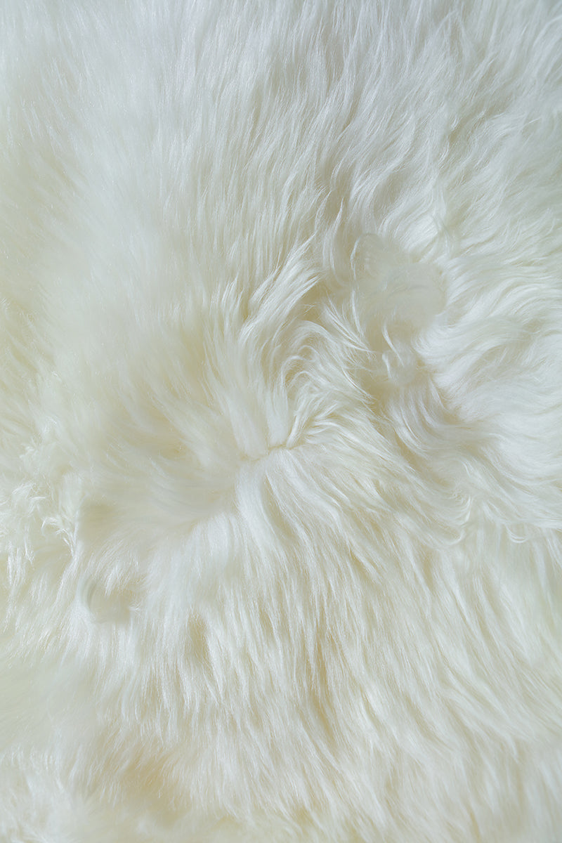 Single Sheepskin Rug  - White (2.5´x 3.5´)