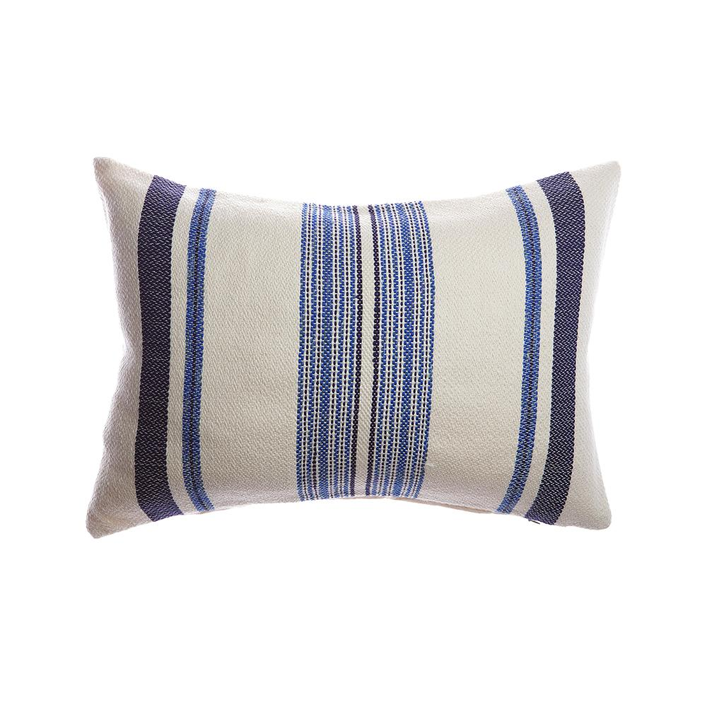 Sussie Square Wool Pillow - Blue