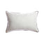 Trim Black Linen Square Pillow