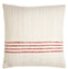 Red Striped Square Pillow