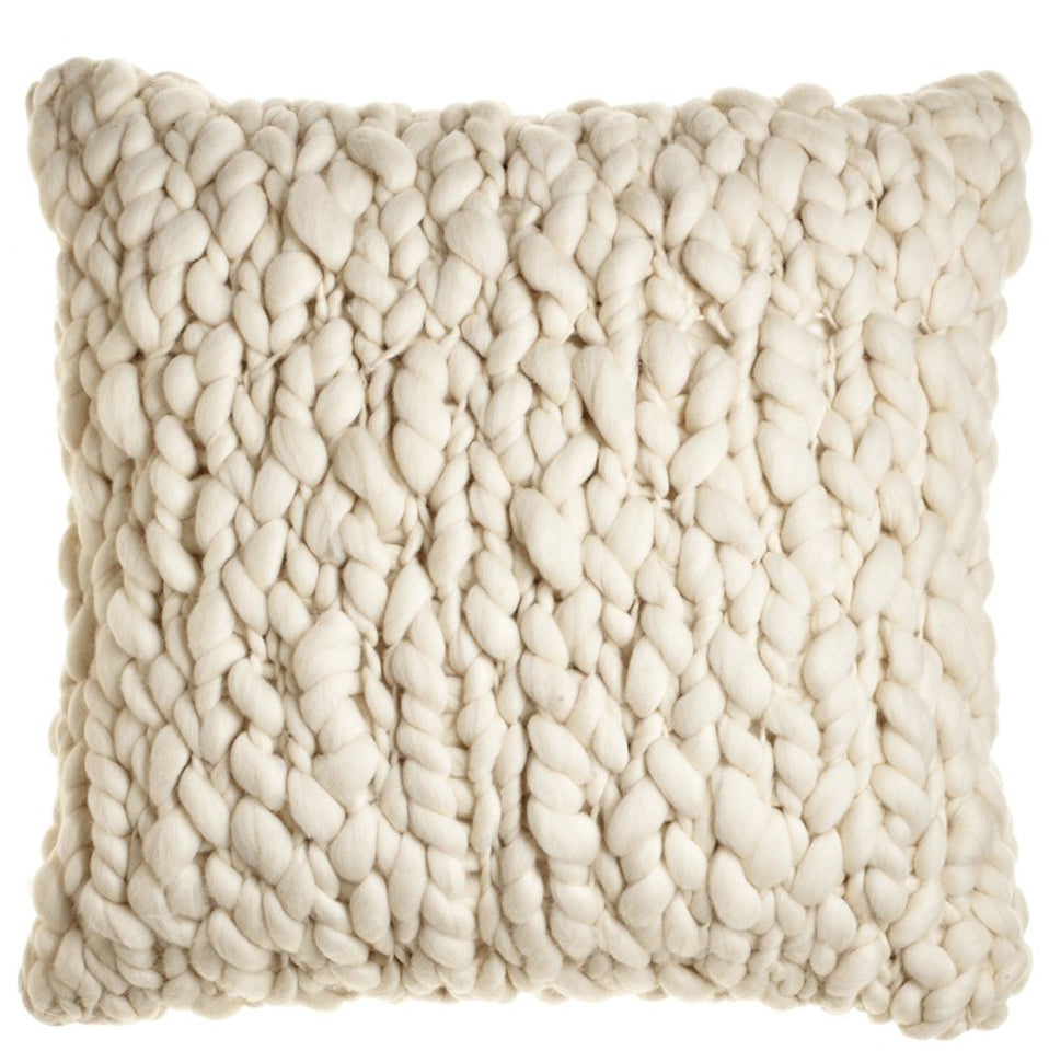 Clouds Chunky Wool Throw Pillow Homelosophy