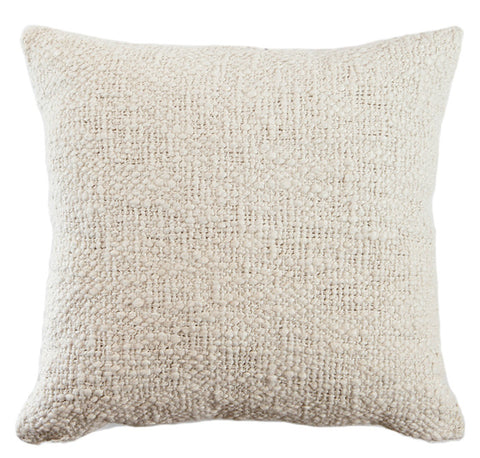 Textured Rustic Cotton Decor Pillow