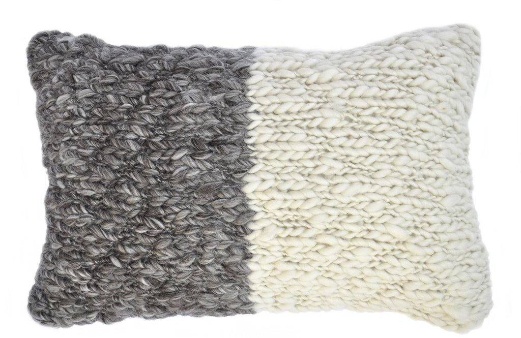 Half Jersey Cable Knit Throw Pillow - Homelosophy