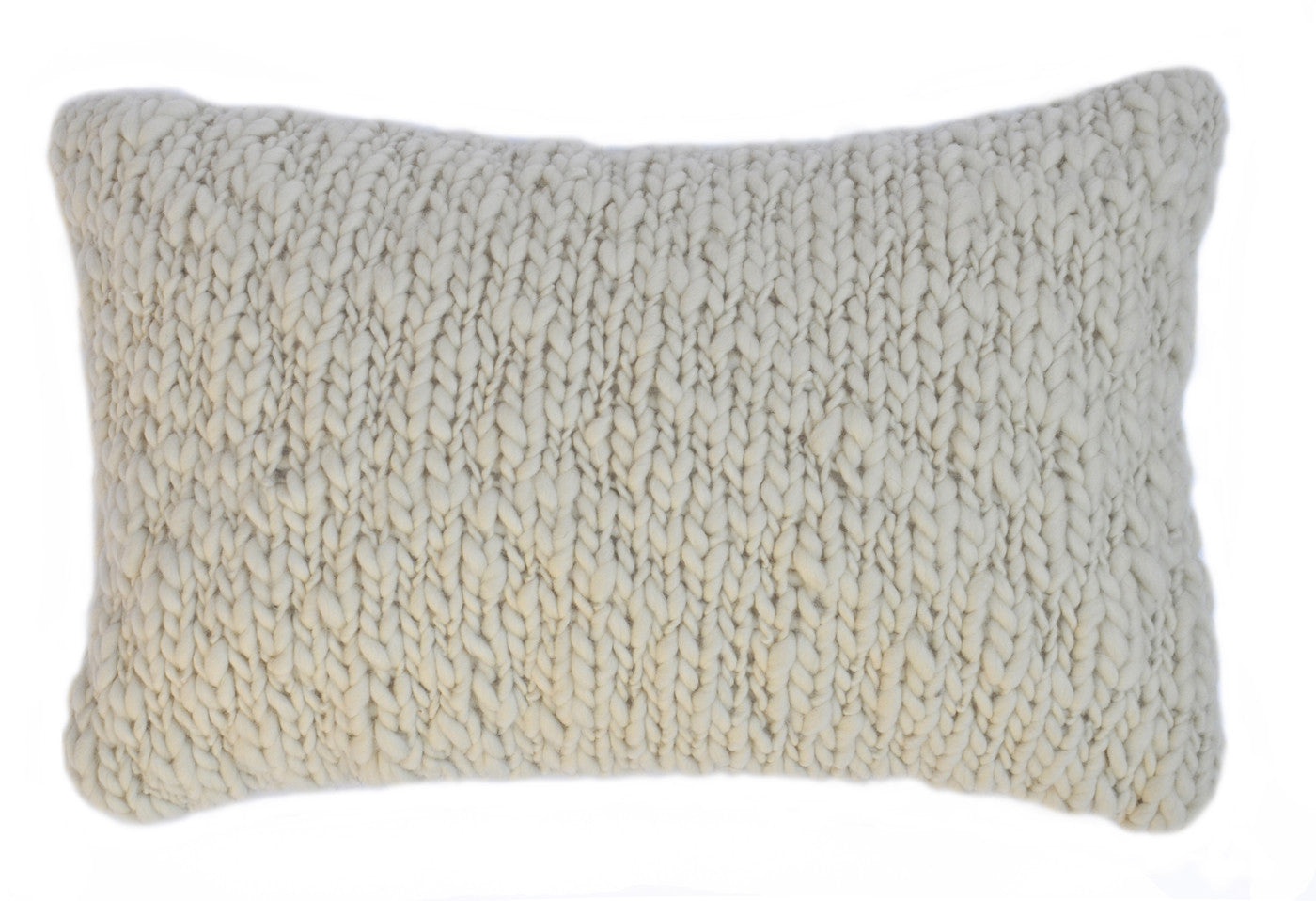Jersey Cable Knit Throw Pillow