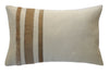Caramel Hide Stripes Decor Pillow - Homelosophy