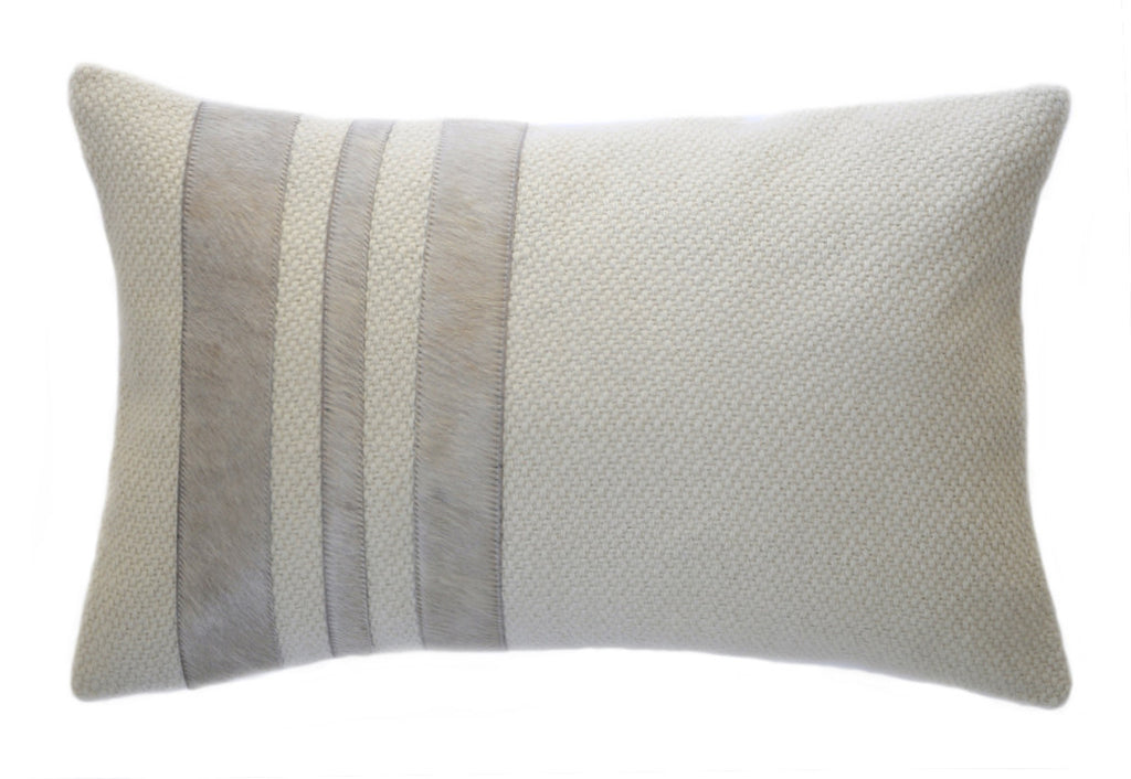 Taupe Hide Stripes Decor Pillow - Homelosophy