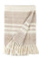 Stripes Camel Wool Throw Blanket