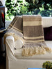 Choco Stripes Wool Throw | Homelosophy
