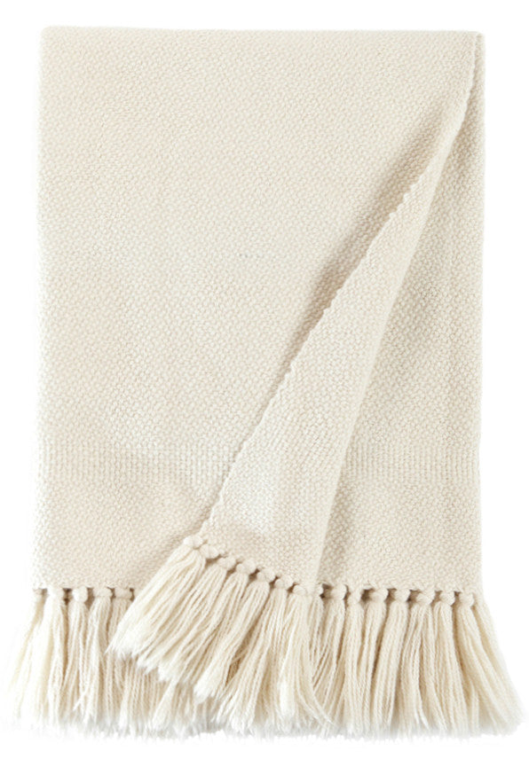 Luxury Blanket - Natural Ivory Throw | Homelosophy