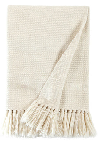 Natural Ivory Luxury Throw