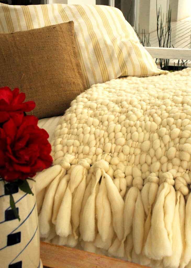 Knitting A Chunky Blanket : Chunky knit throw clouds blanket homelosophy