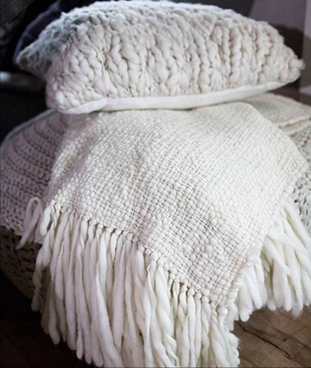 Flame Chunky Wool Blanket