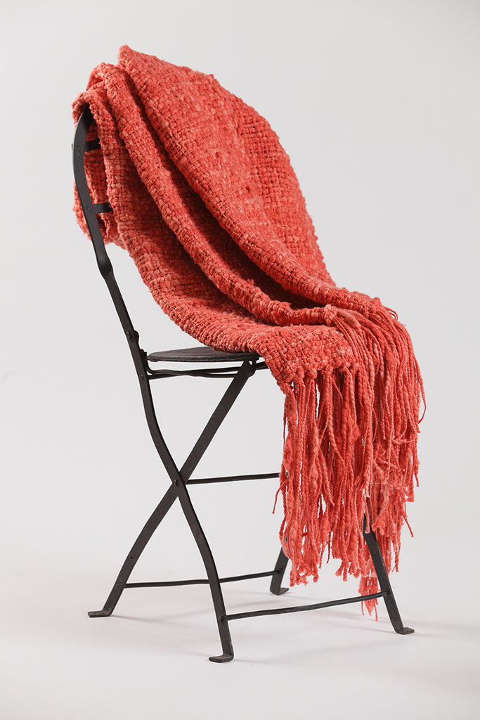 Coral Colored Throw Blanket