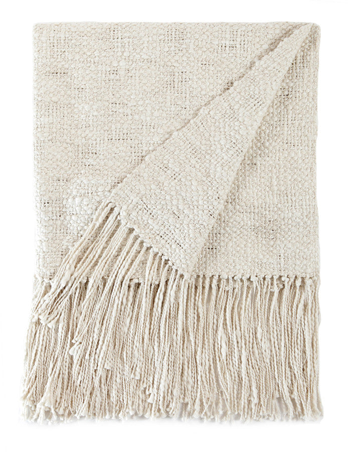 Rustic Cotton Textured Throw Blanket