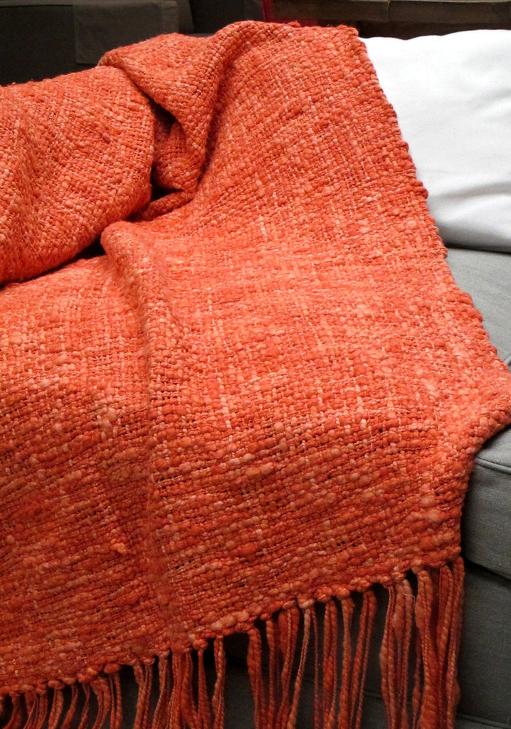Cotton Throw Blanket Coral Textured Throw Homelosophy