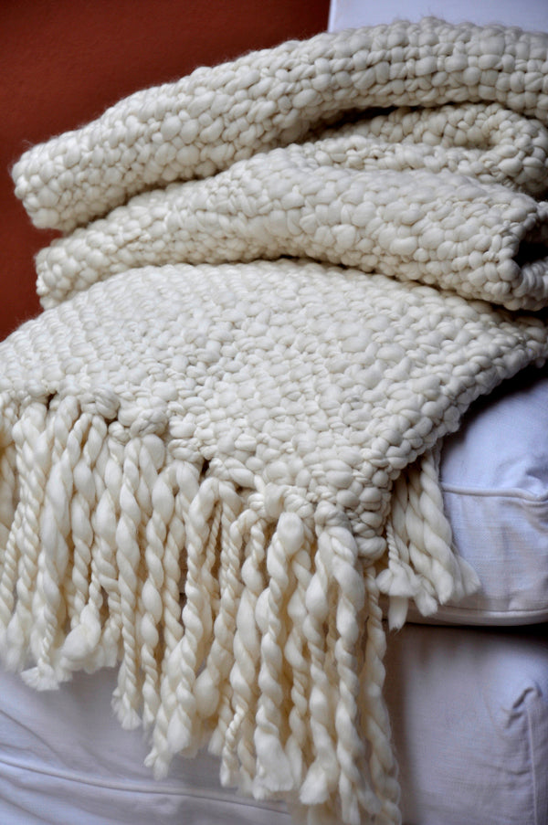Alma Throw Blanket - Natural Ivory