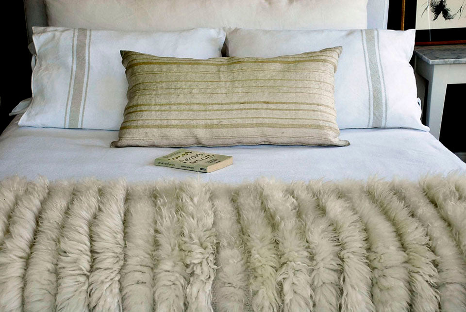 Sheepskin Blanket - Full Stripes