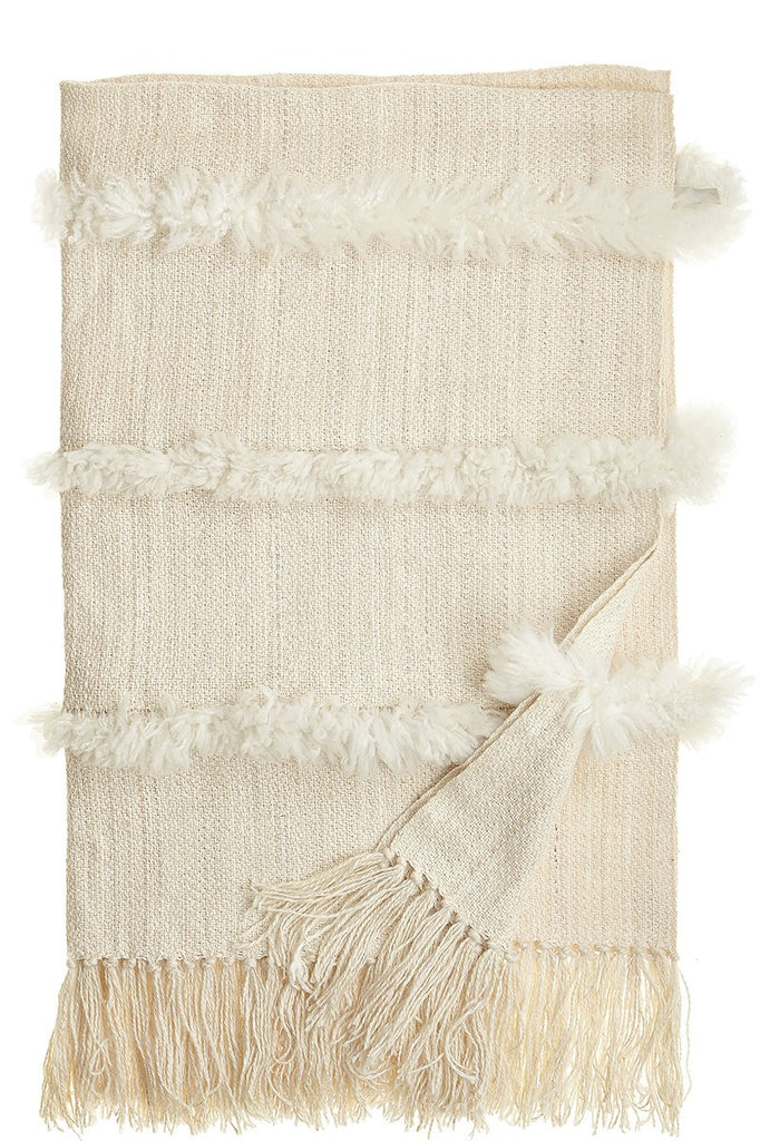 Sheeskin striped throw blanket - Homelosophy