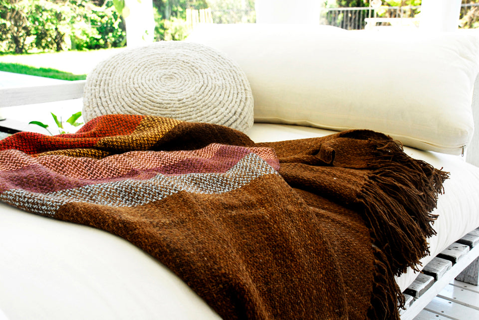 Wool Blanket Throw - Brown Throw Blanket | Homelosophy