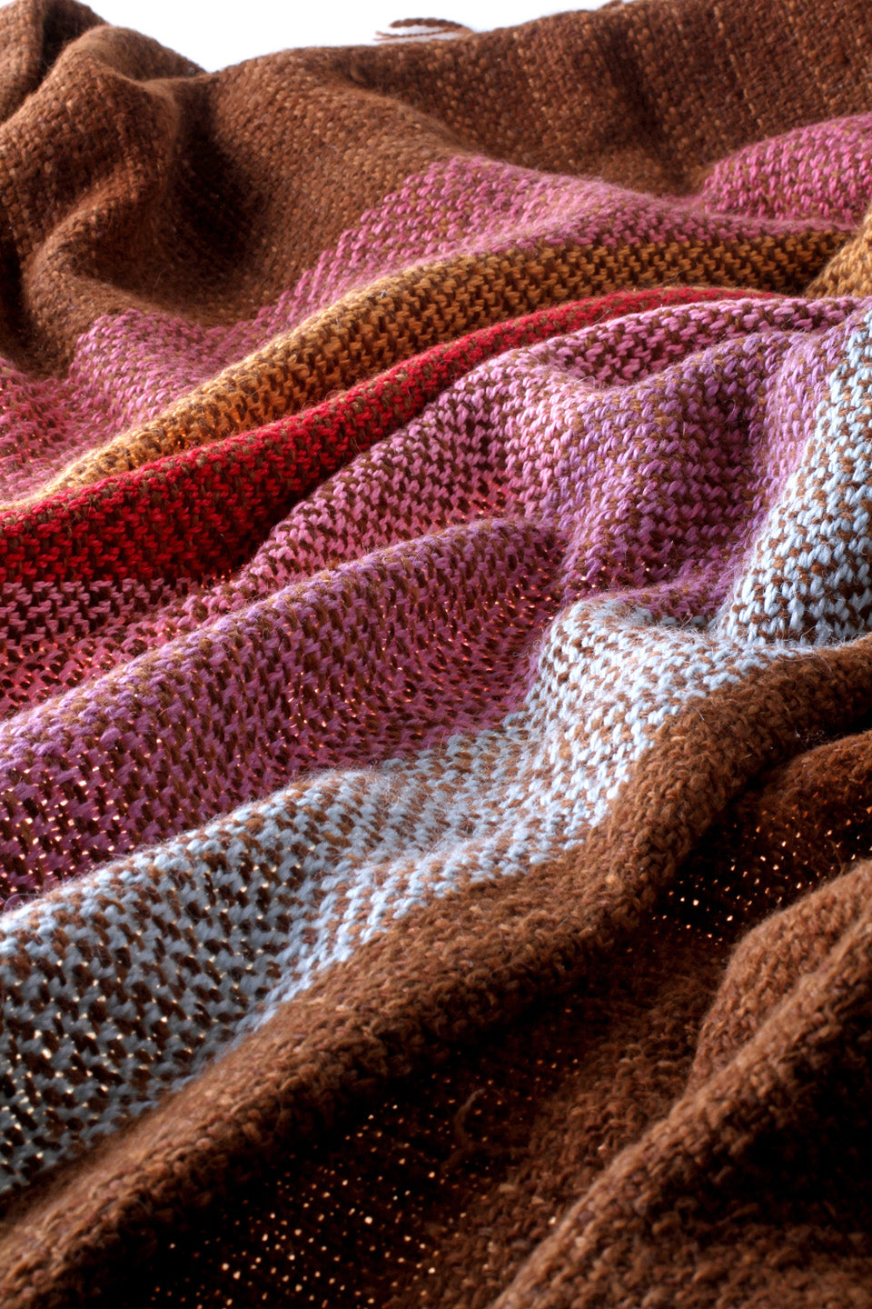 Multicolor Wool Throw Blanket