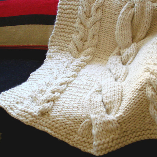 Super Chunky Throw - Knit Throw Blanket