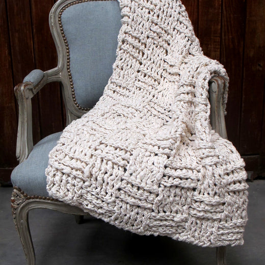 Chess Chunky Knit Throw Blanket