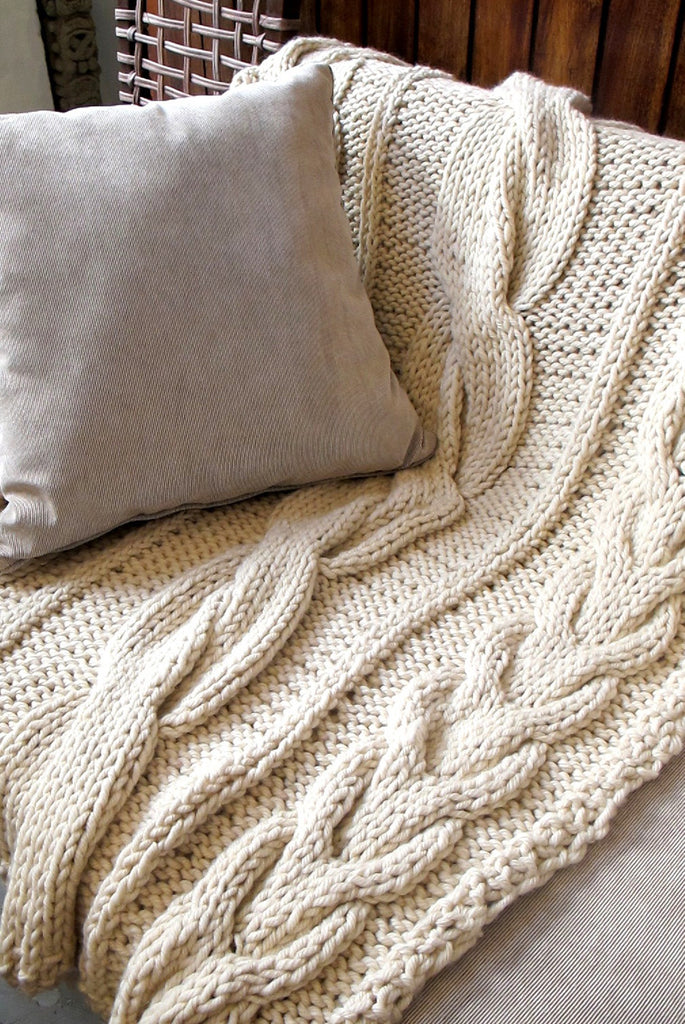 Buy Designer Chunky Knit Throw Blanket Online Homelosophy