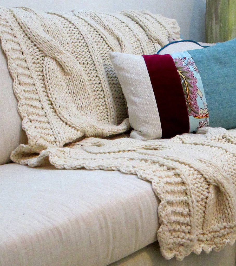 Sweater Blanket Throw - Ochos Wool Throw | Homelosophy