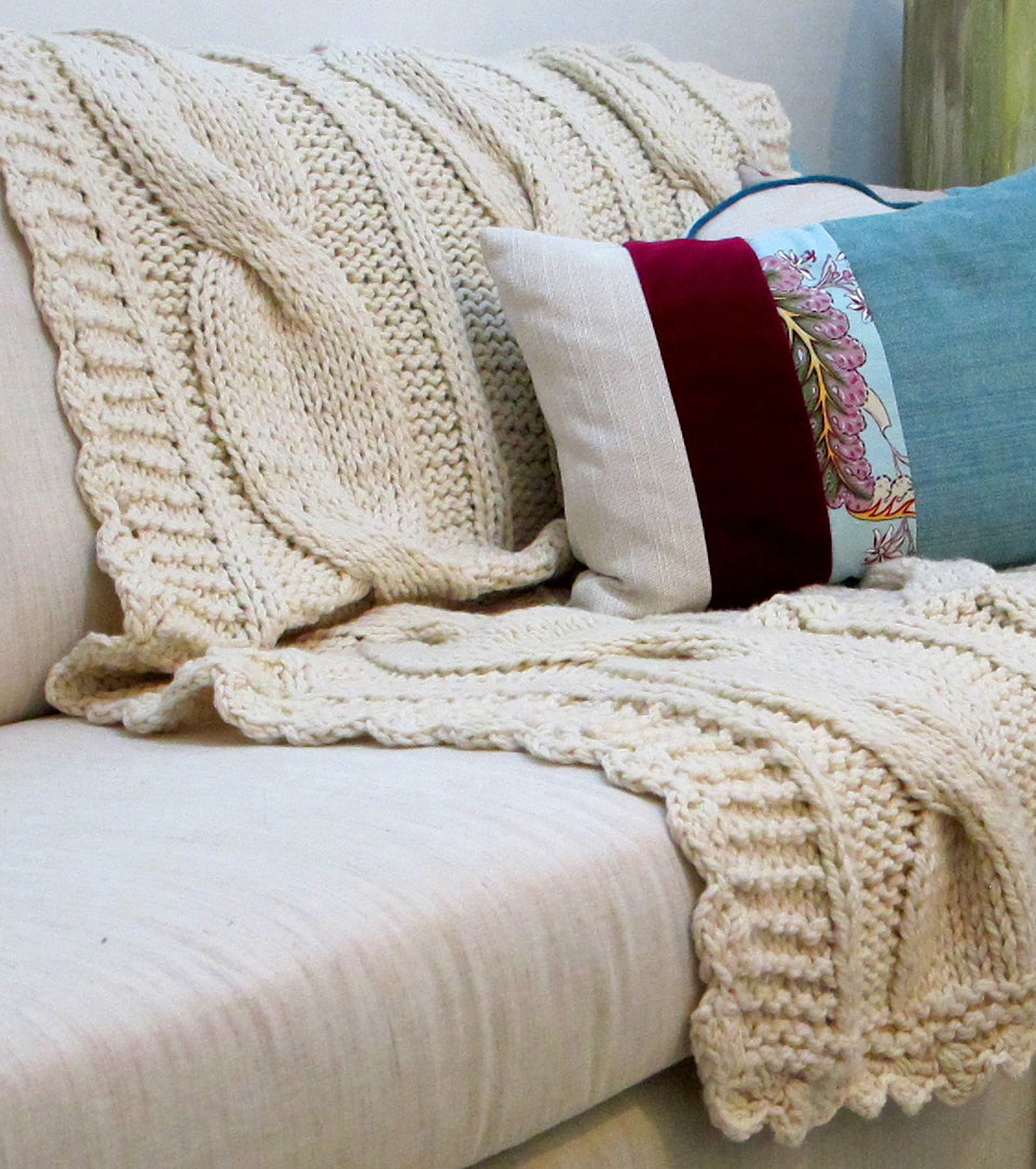 Sweater Blanket Throw - Ochos Wool Throw
