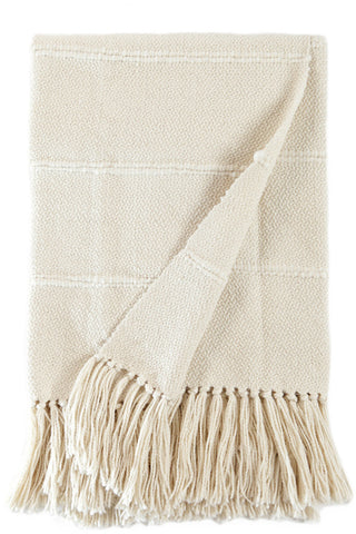 Natural Striped Designer Throw Blanket