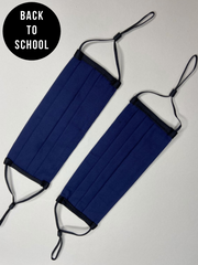Secondary School 2 Pack Navy Washable Face Covering - Ages 10 - Adult