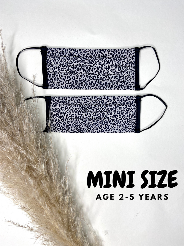 Mini Micro Cheetah Face Covering Age 2-5 - 2 Pack