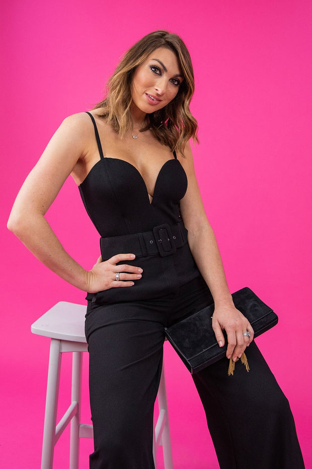 Lexi Structured Black Bodysuit