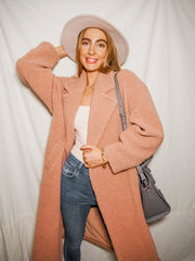 Jorgia Blush Teddy Coat