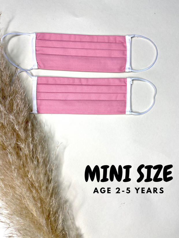 Mini Pink Face Covering Age 2-5 - 2 Pack