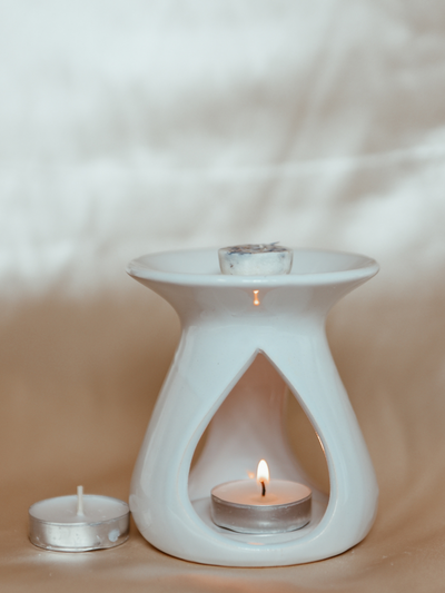 White Tear Drop Melter - Wax Melt Burner
