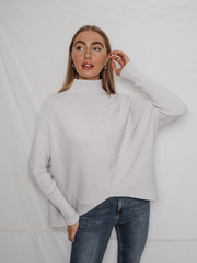 Hope Stone Knitted Oversized High Neck Jumper