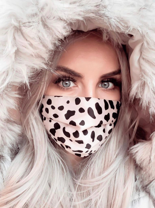 Cheetah Print Washable Face Covering - ADJUSTABLE